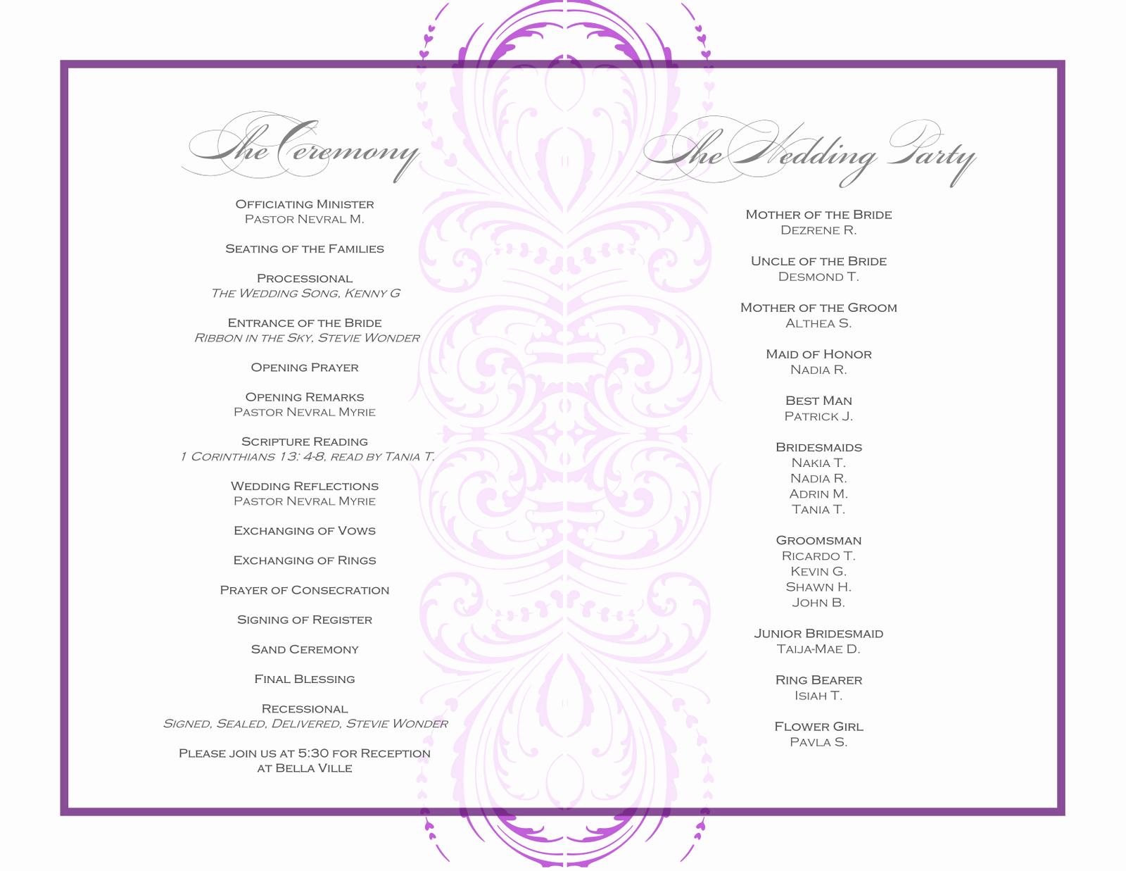 Banquet Program Template Beautiful event Program Template