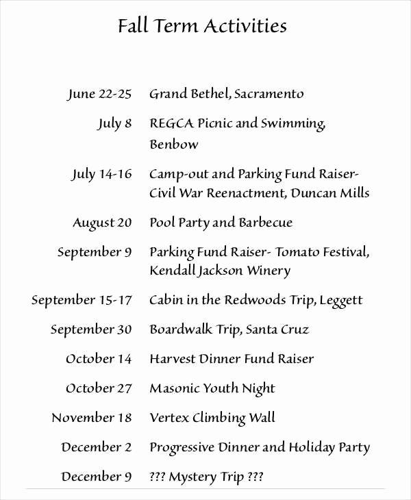 Banquet Program Template Best Of 9 10 Program Of events Sample