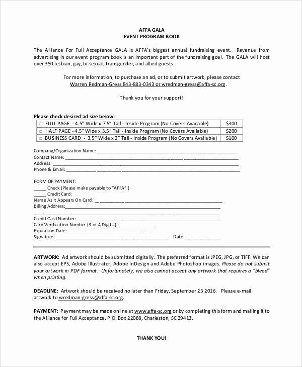 Banquet Program Template Fresh Sample event Program 6 Documents In Pdf