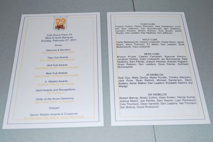 Banquet Program Template Lovely Blue and Gold Banquet Program Template