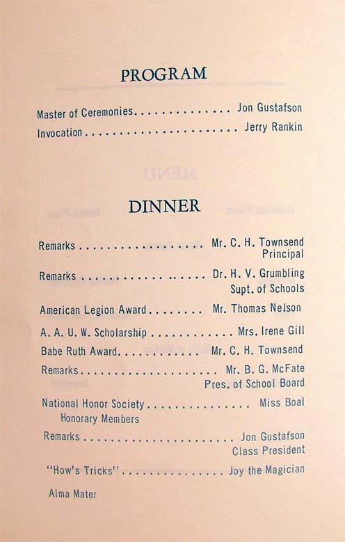 Banquet Program Template Unique Senior Banquet