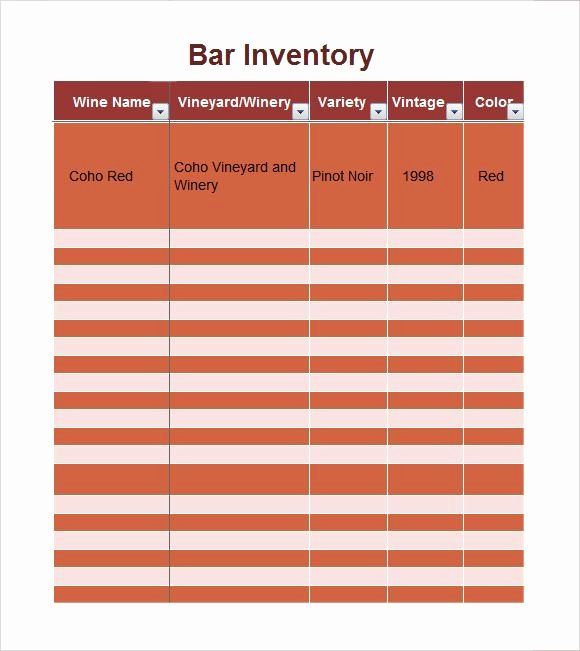 Bar Inventory Template Awesome Bar Inventory Spreadsheet Excel