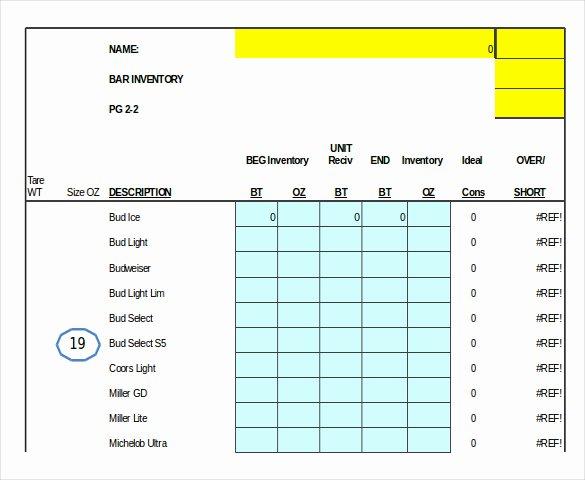 Bar Inventory Template New 10 Liquor Inventory Templates Pdf Doc Xls
