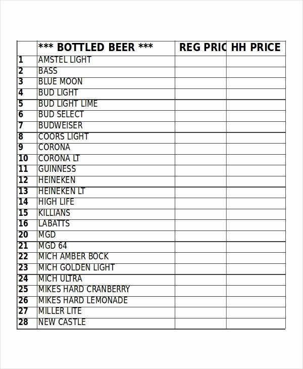 Bar Inventory Template Unique 17 Inventory Templates Free Sample Example format