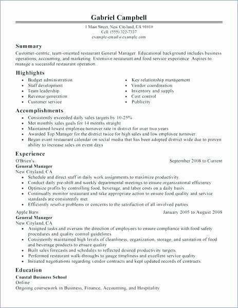 Bar Manager Job Description Resume Luxury Bar Manager Job Description