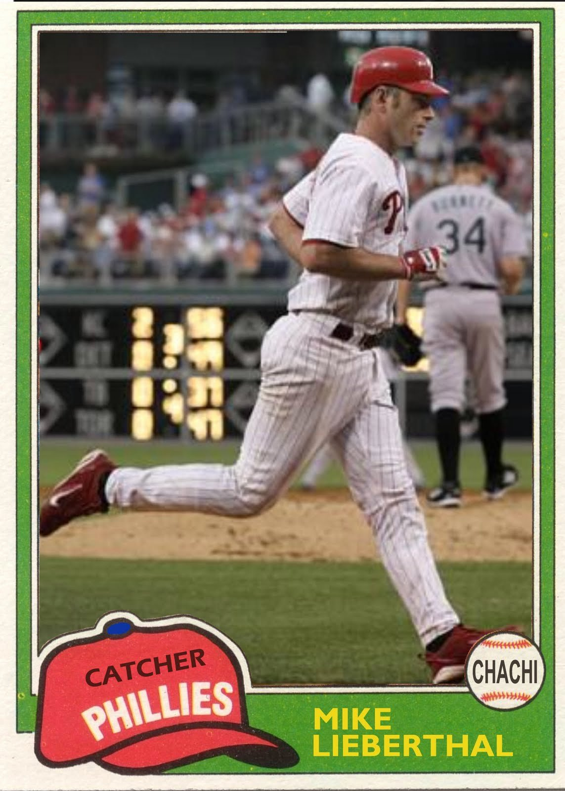Baseball Card Size Template Fresh the Phillies Room How to Make A Baseball Card