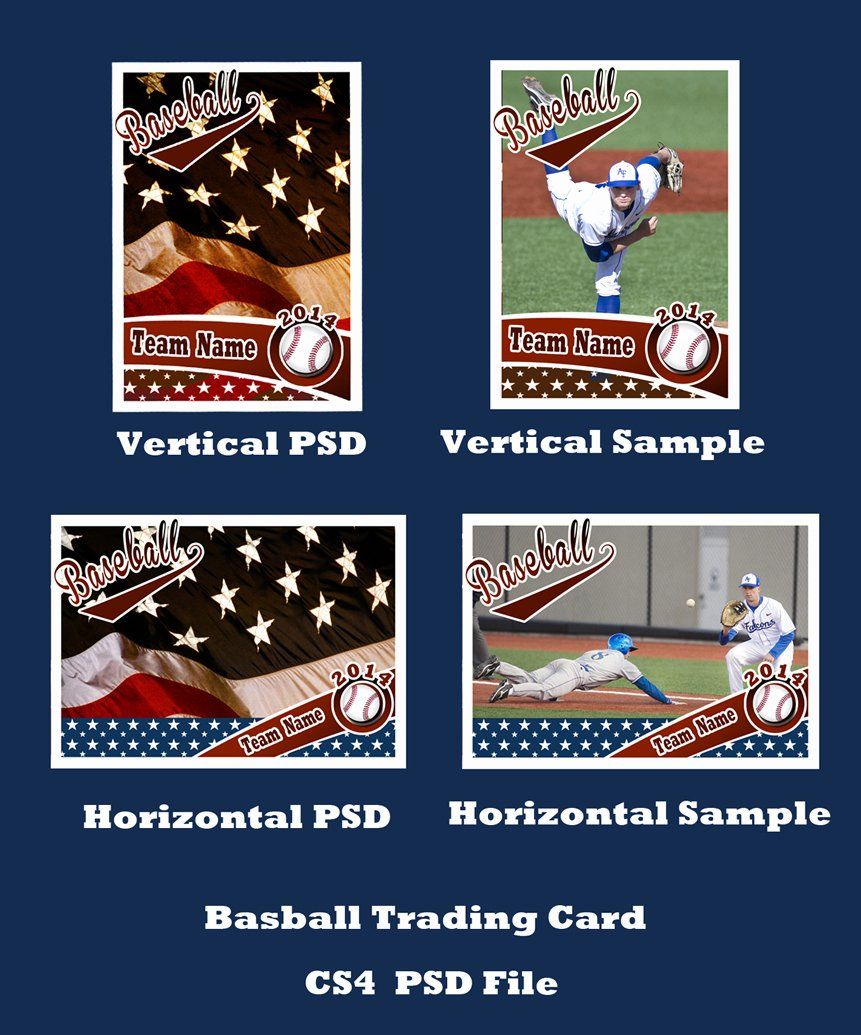 Baseball Card Size Template Unique Baseball Card Template Psd Cs4 Shop by Bevie55 On