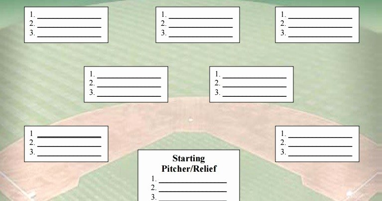 Baseball Depth Chart Template Excel Awesome softball Field Positions Fillable Template Bing Images