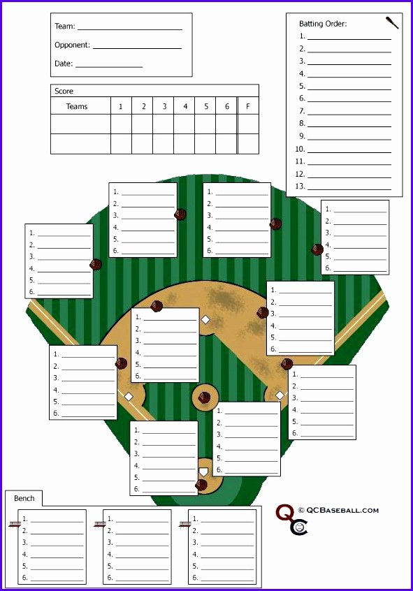 Baseball Depth Chart Template Excel Fresh 12 Baseball Lineup Excel Template Exceltemplates