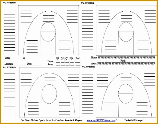 Baseball Depth Chart Template Excel Lovely 7 Basketball Player Stat Sheet Template