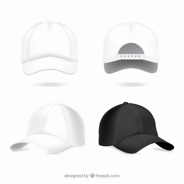 Baseball Hat Vector New Realistic Baseball Caps Vector