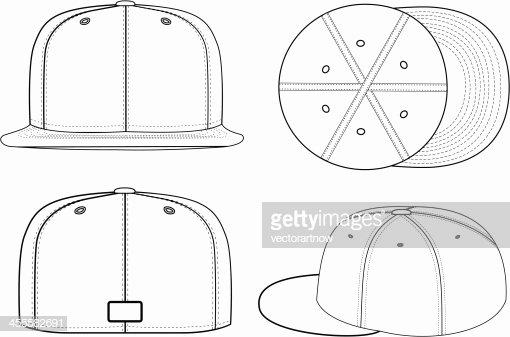 Baseball Hat Vector Unique Baseball Cap Vector Art