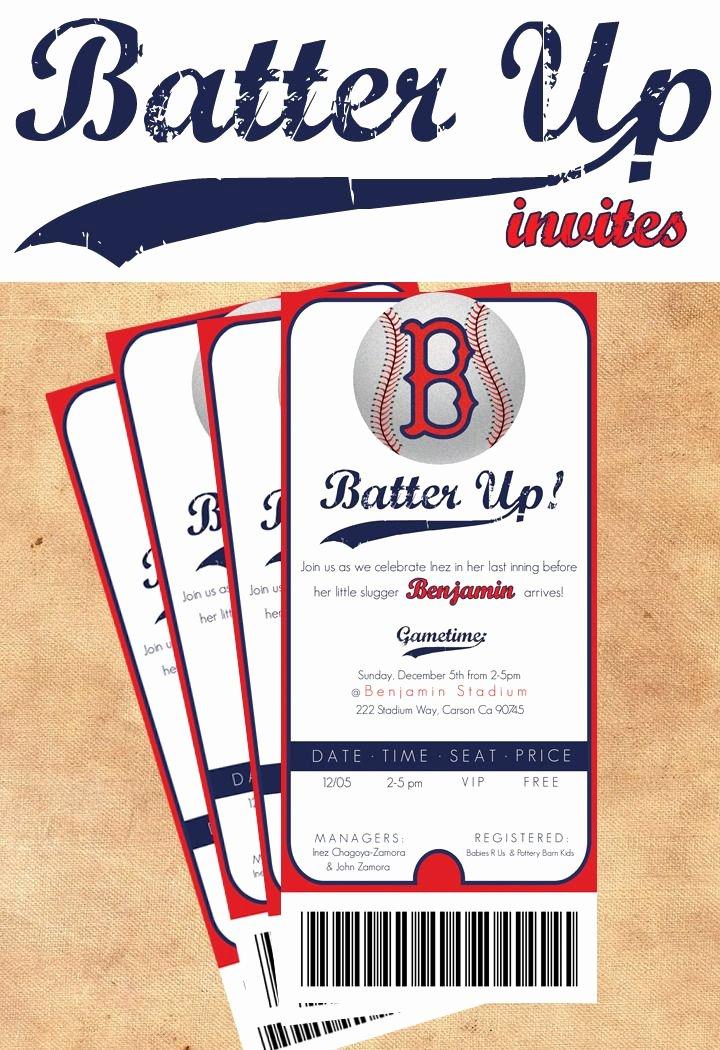 Baseball Ticket Invitation Template Free Unique Best 25 Baseball Party Invitations Ideas On Pinterest