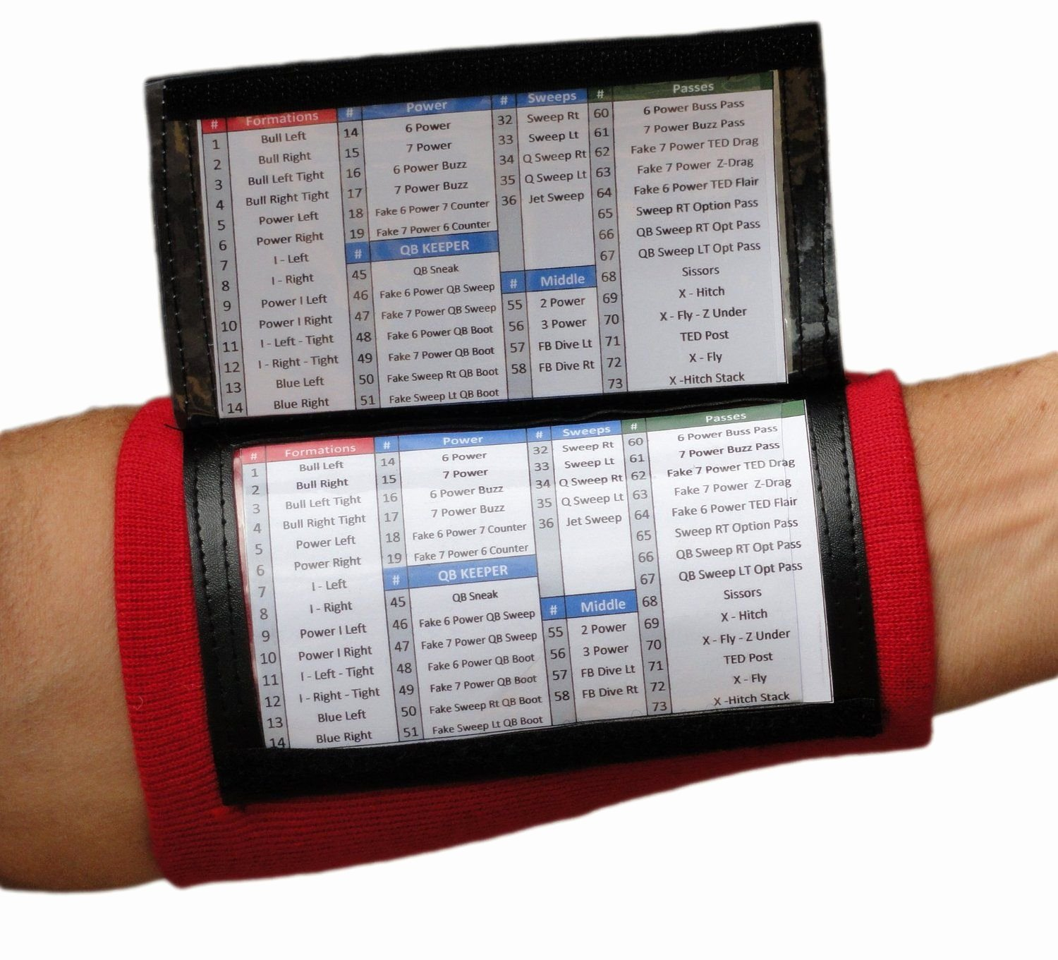 Baseball Wristband Template Awesome Qb Wrist Coaches for Youth and Adult In Seven Colors
