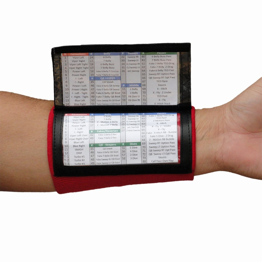 Baseball Wristband Template Fresh X100 Wrist Coach Youth Playbook Wristbands at