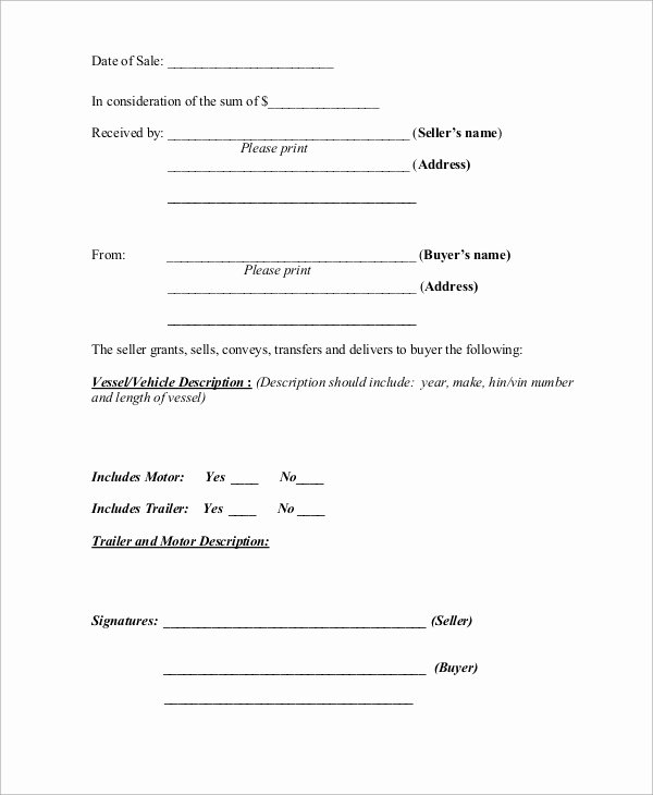 Basic Bill Of Sale Inspirational Simple Bill Of Sale 10 Examples In Word Pdf