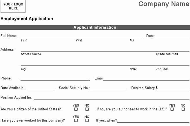 Basic Job Application Beautiful 4 Basic Job Application Free Download