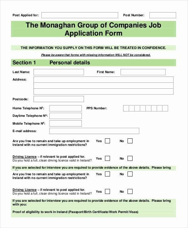 Basic Job Application Elegant 66 Basic Application forms