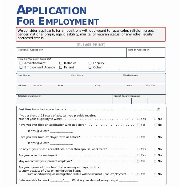 Basic Job Application Inspirational 21 Employment Application Templates Pdf Doc