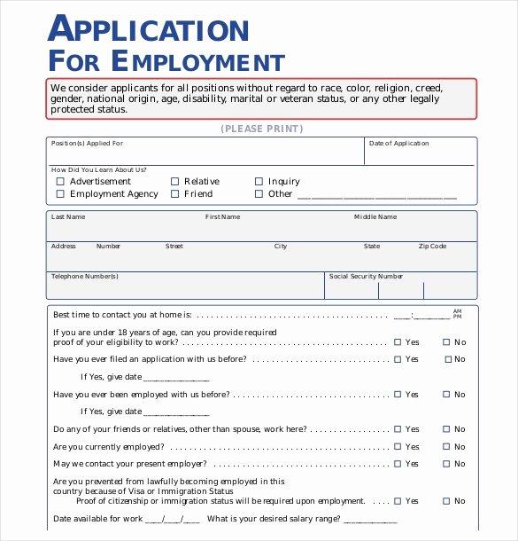 Basic Job Application Inspirational 21 Employment Application Templates Pdf Doc
