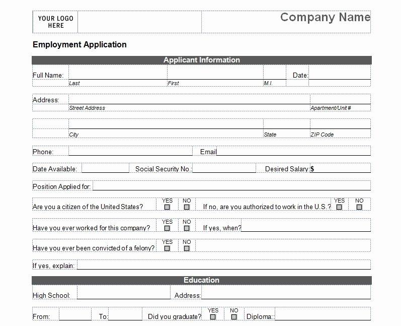 Basic Job Application Luxury Basic Job Application