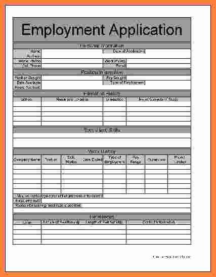 Basic Job Application New 8 Basic Job Application