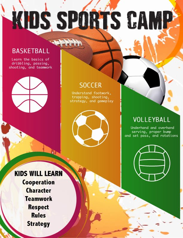 Basketball Camp Flyer Template Awesome Sports Camp Flyer Design Yourweek 04e82feca25e