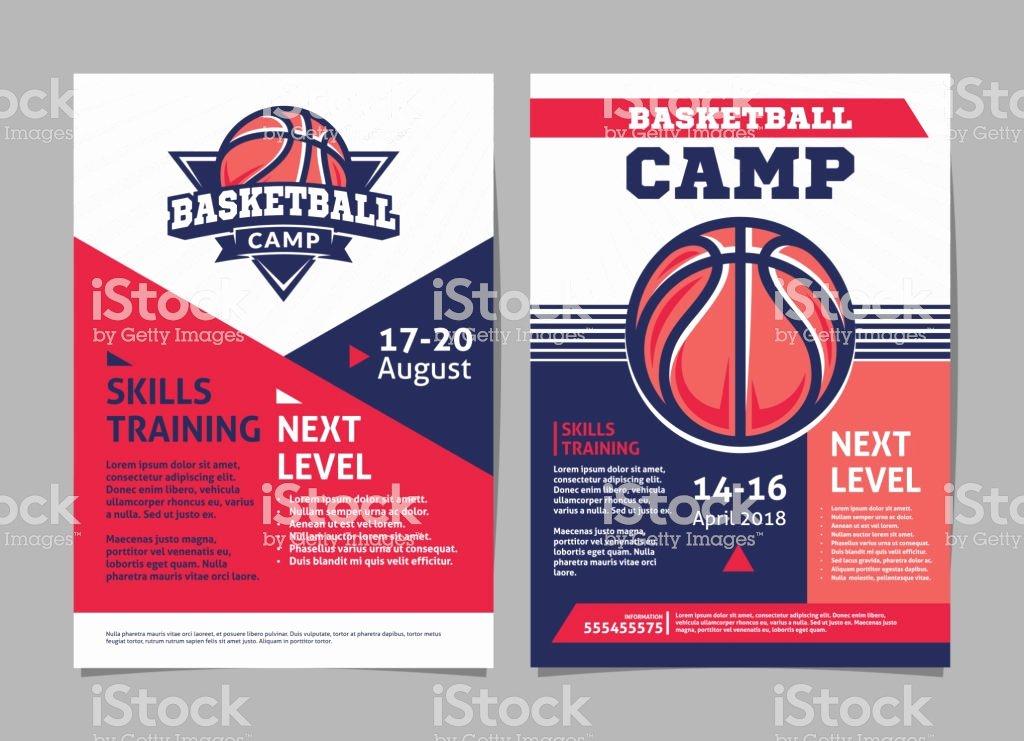 Basketball Camp Flyer Template Beautiful Basketball Camp Posters Flyer with Basketball Ball