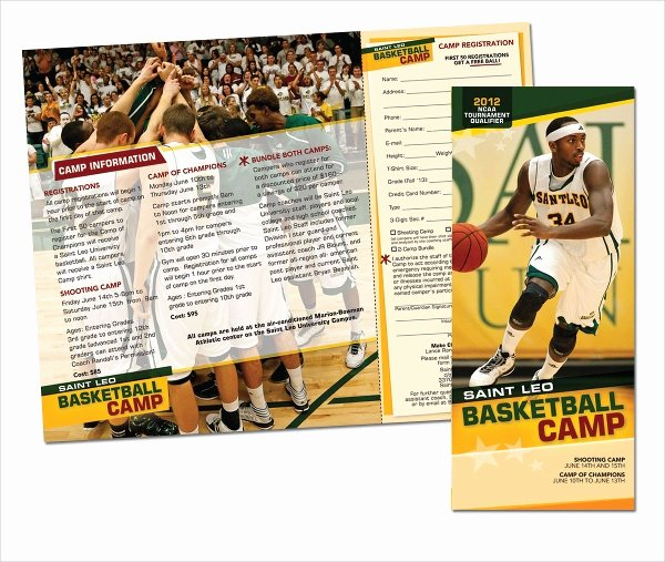 Basketball Camp Flyer Template Best Of 16 Basketball Camp Brochures Free Psd Eps Ai format