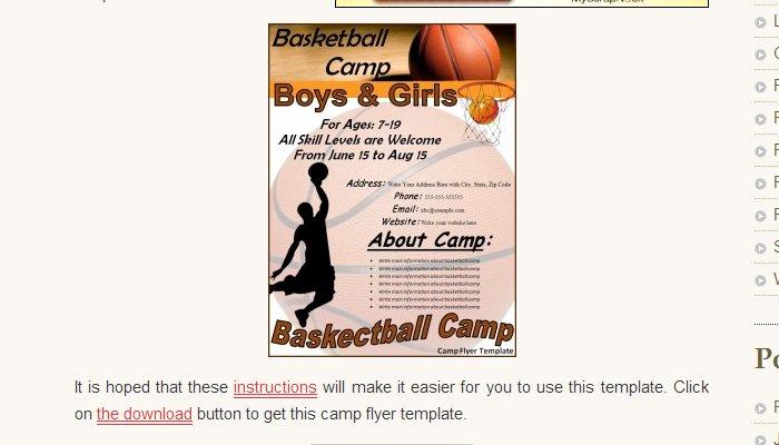 Basketball Camp Flyer Template Best Of 5 Basketball tournament Flyer Templates