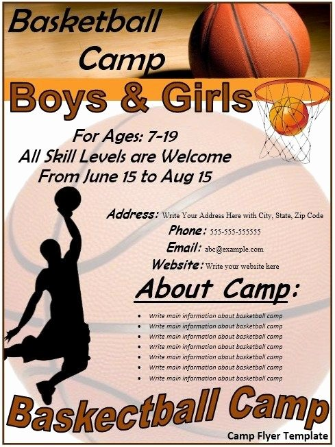 Basketball Camp Flyer Template Best Of Basketball Flyer Stationary Templates
