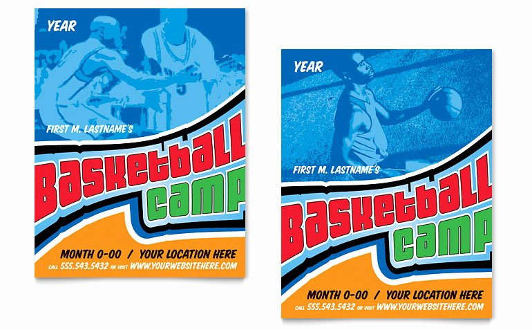 Basketball Camp Flyer Template Fresh Basketball Sports Camp Poster Template Word & Publisher