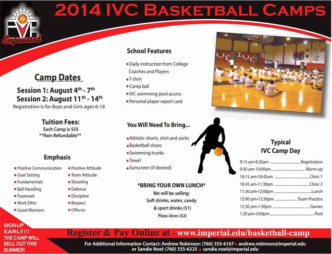 Basketball Camp Flyer Template Lovely Basketball Camp Brochure Template 20 Best Print Material