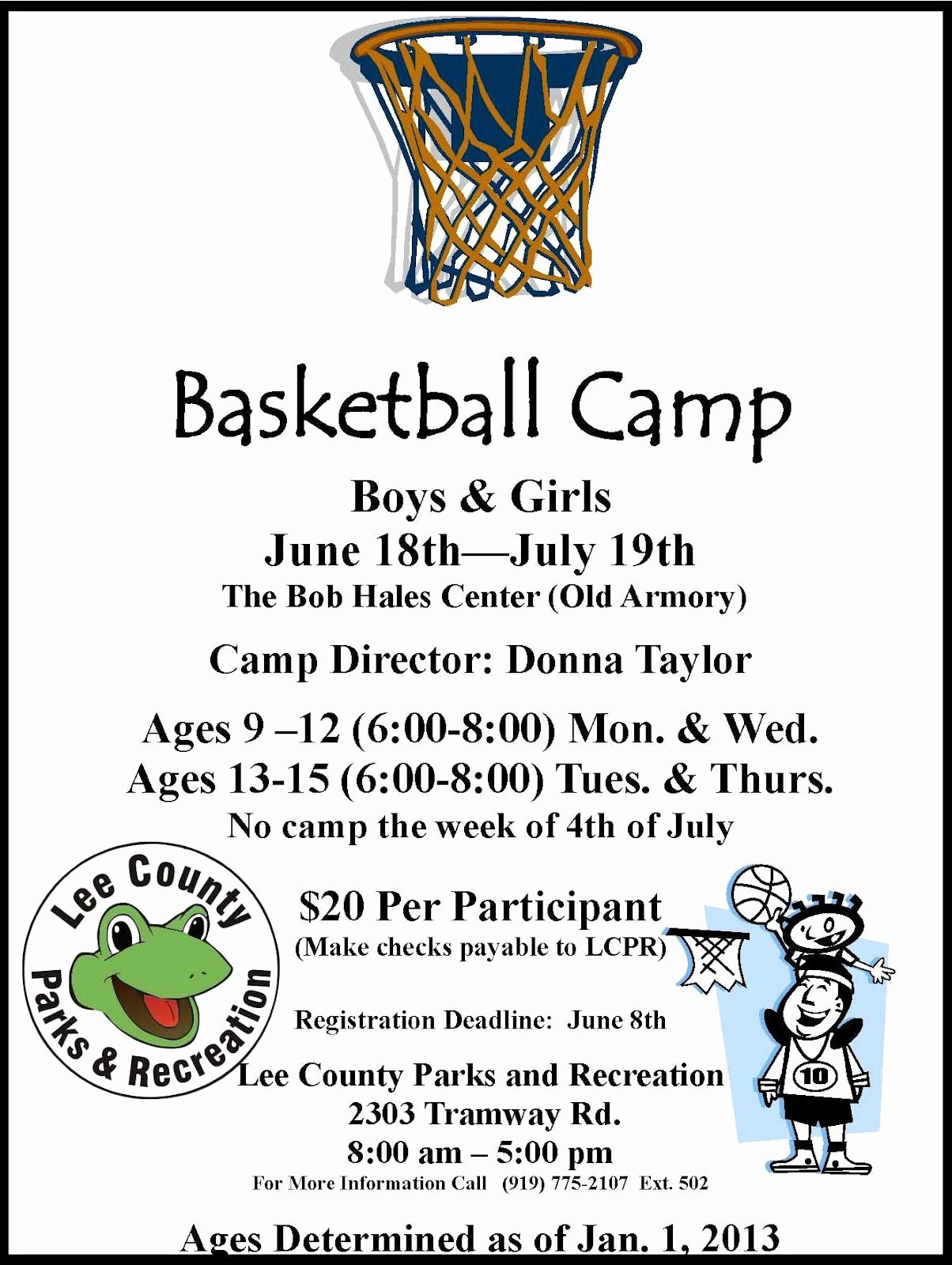 Basketball Camp Flyer Template Lovely Lee County Government Basketball Camp