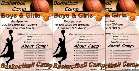 Basketball Camp Flyer Template New 31 Basketball Flyers Psd Ai Vector Eps