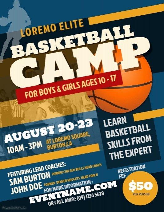 Basketball Camp Flyer Template New Basketball Camp Flyer Template
