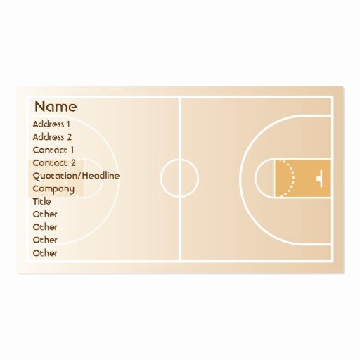 Basketball Card Template Beautiful Basketball Business Business Card Template