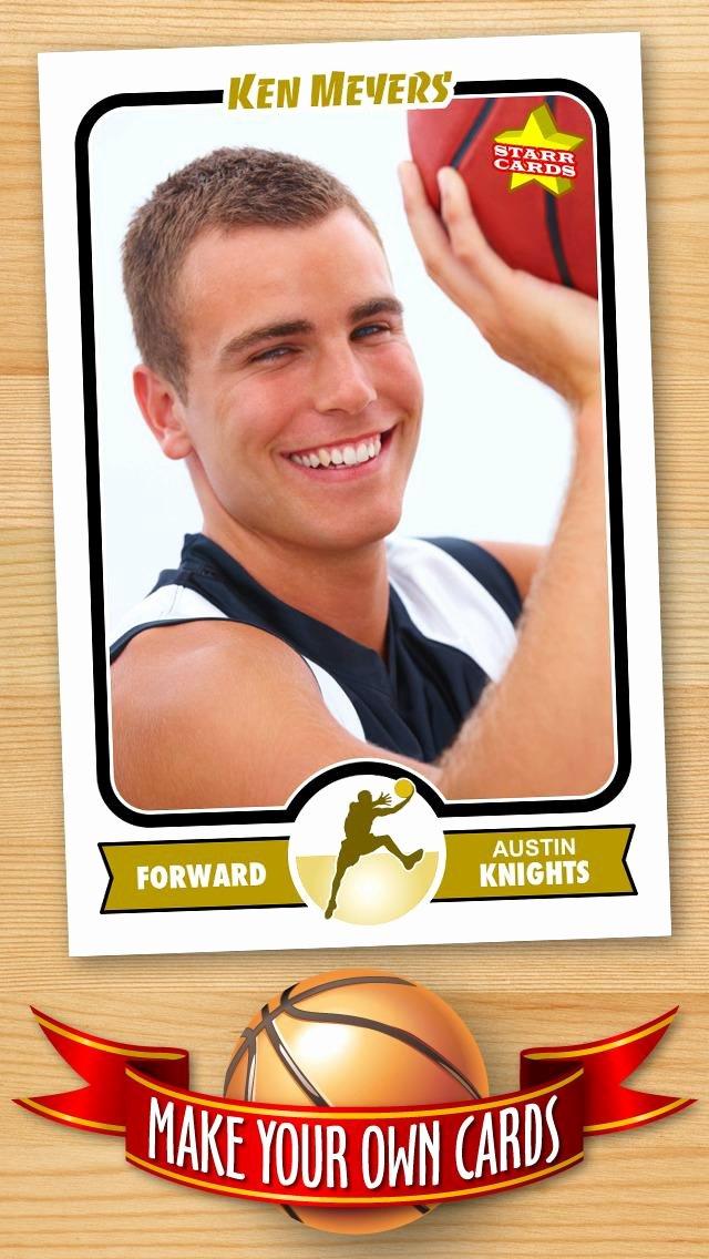 Basketball Card Template Beautiful Free Basketball Card Template — Create Personalized Starr