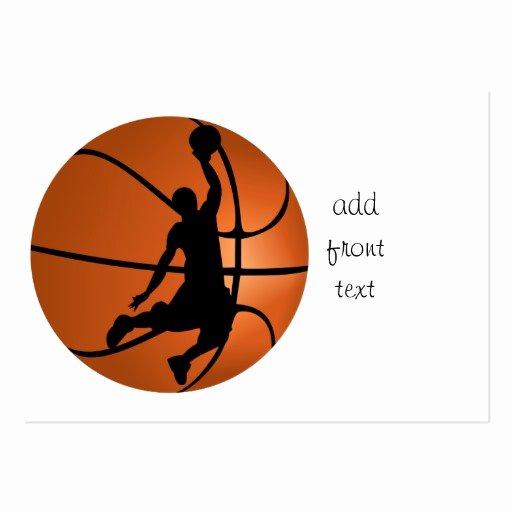 Basketball Card Template Beautiful Slam Dunk Basketball Player Business Cards Pack
