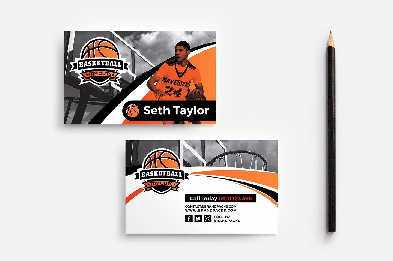 Basketball Card Template Best Of Basketball Business Card Template Business Card