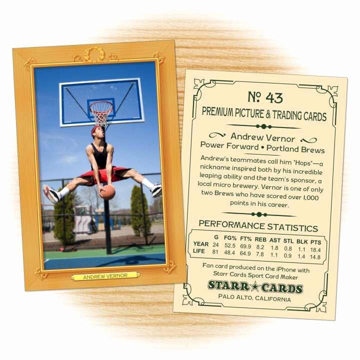Basketball Card Template Best Of Custom Basketball Cards Vintage 11™ Series Starr Cards