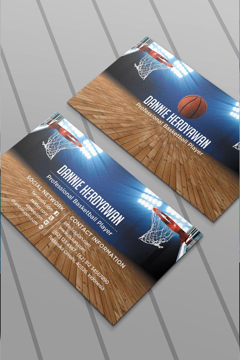 Basketball Card Template Elegant Basketball Business Card Psd Template