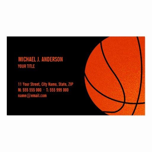 Basketball Card Template Elegant Coach Business Card Templates