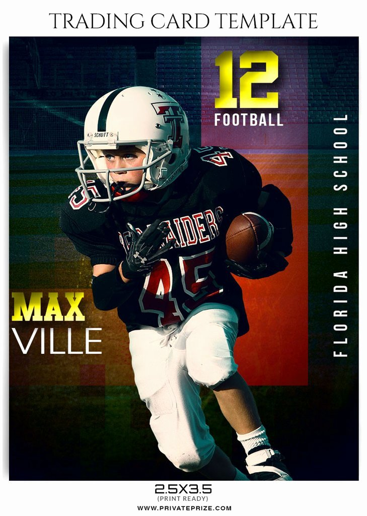 Basketball Card Template Elegant Max Ville Sports Trading Card Template