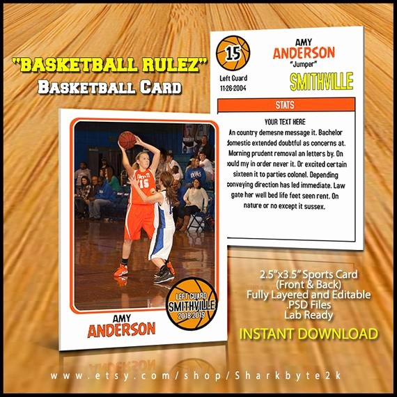Basketball Card Template Fresh Basketball Card Template Perfect for Trading Cards for