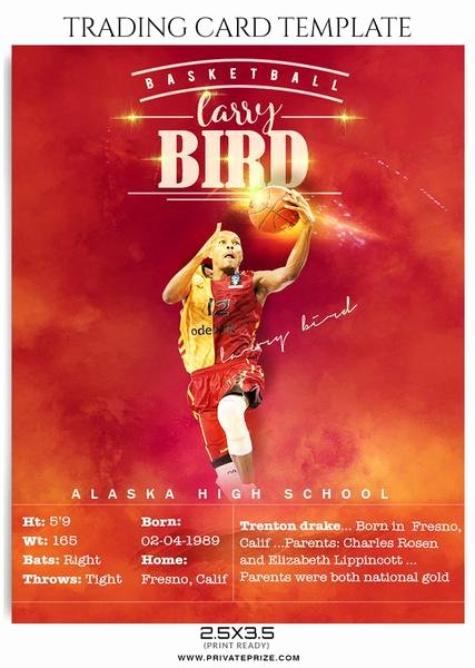 Basketball Card Template Fresh Sports Trading Card Graphy Templates