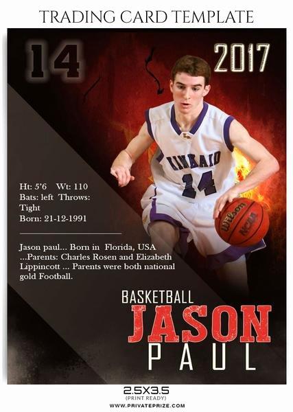 Basketball Card Template Inspirational Sports Trading Card
