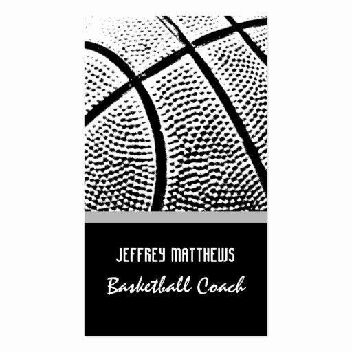 Basketball Card Template Lovely Basketball Business Card Template