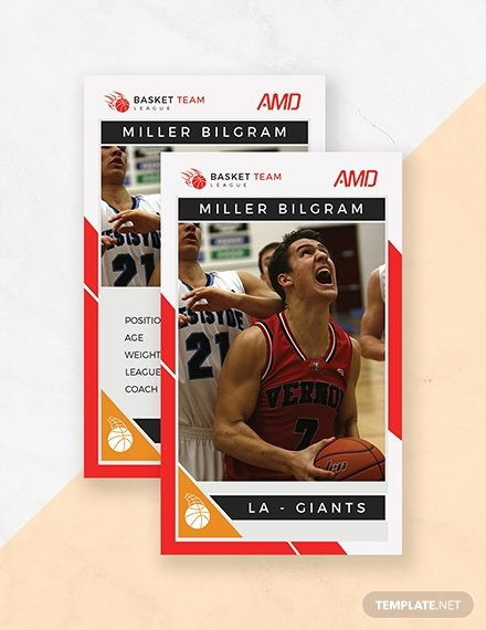 Basketball Card Template Luxury 14 Free Trading Card Templates