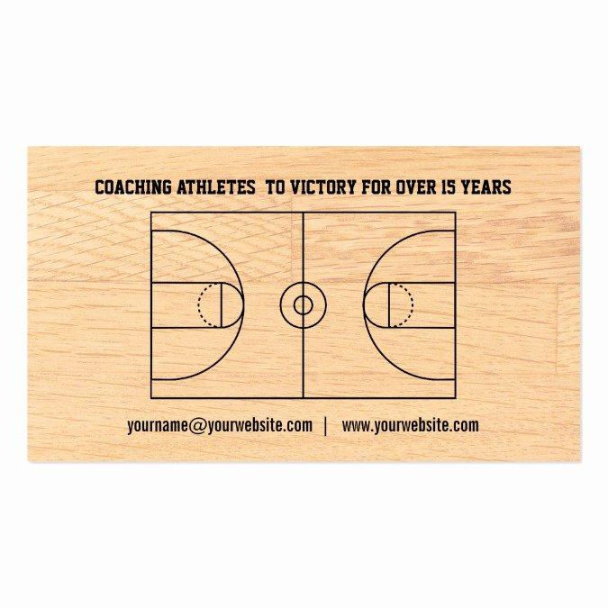 Basketball Card Template Luxury Basketball Coach Business Card Templates